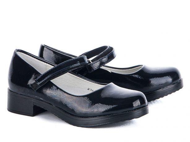 Туфли школьные для девочки черные лакированые на каблуке 76ff7d8bf6358