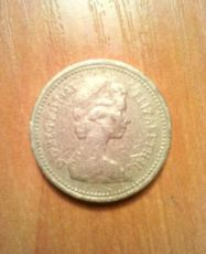 Один фунт стерлингов (монета) ONE POUND 1983 DG REG FD 1983 elizabeth