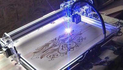 Акция!!! Лазерный гравер, лазерный резак, 50х40см 2500 мВт НАЛИЧИЕ!