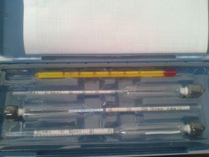 Спиртометр, 4в1, алкогольметр, Ареометр набор +градусник