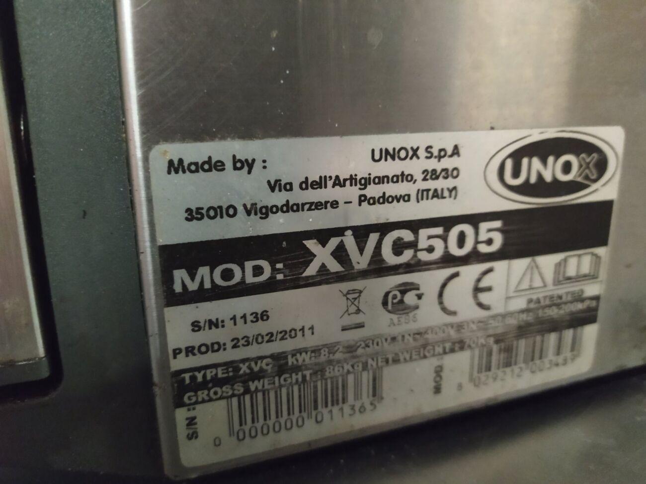 Пароконвектомат бу  Unox XVC 505 Печь  с паром  бу печка б/у