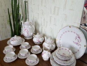 Посуда ГДР Сервиз кофейный Reichenbach (Райхенбах ) с тарелками