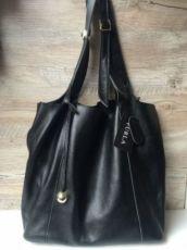 Женская кожаная сумка Furla Фурла чёрная мешок Торба