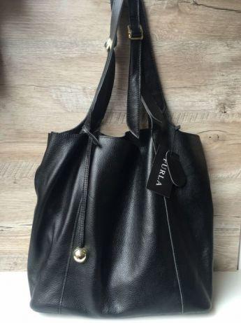 d2a893ea Женская кожаная сумка Furla Фурла чёрная мешок Торба: 1 700 грн ...