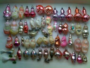Советские новогодние елочные игрушки Ссср и Гдр