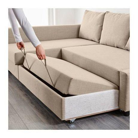 ортопедический диван кровать с передвижной козеткой икеа Ikea 26