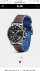 Часы мужские, брендовых часы, COACH Delancey, наручные часы, кожа