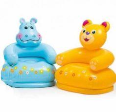 Детское надувное кресло Intex (68556), бегемот и медвежонок