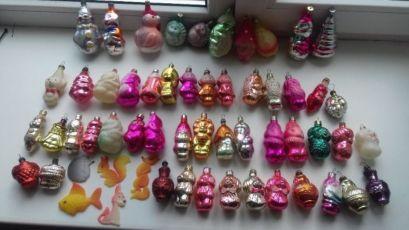 Елочные игрушки новогодние игрушки советские ретро