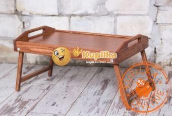 ХИТ!Деревянный столик для завтрака в постель,поднос в кровать,подарок