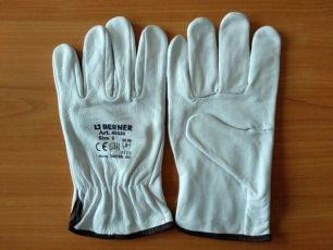 Перчатки рабочие, натуральная кожа, Berner Германия