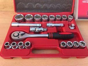 Набор инструментов, 21 шт. MTX ключи , головки ,ключ трещотка 1/2