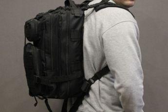 Тактический рюкзак Oxford 600D с системой M.O.L.L.E Black (ta25 черный