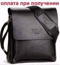 Мужская кожаная брендовая сумка барсетка POLO Поло купить