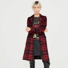 Новое пальто от cropp town в клетку в стиле панк