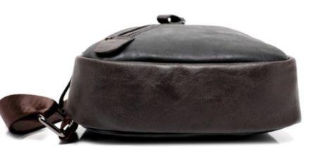 c013beea4ad6 ... Мужская чоловіча спортивная кожаная сумка слинг рюкзак бананка купить 4  ...