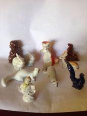 Статуэтки Фарфоровые звери,зайчик,лисичка,птичка ссср фарфор
