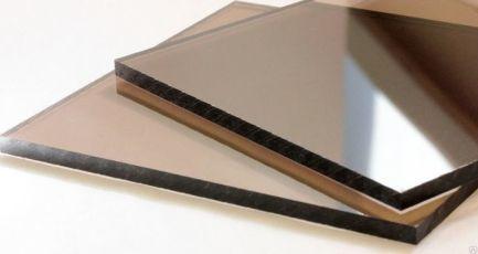 Монолитный поликарбонат| Бронза 10 % темная| 40% светлая|Оргстекло