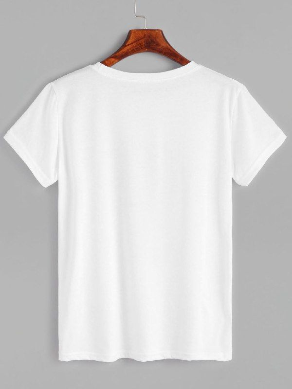 f19067af6d372 Классическая T-SHIRT однотонная белая футболка из высококачественного