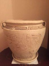 Греческий вазон из шамота для квартиры,дома,сада.