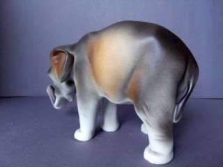 Фарфоровая статуэтка фарфор Чехия Royal Dux Bohemia Слон 6