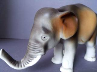 Фарфоровая статуэтка фарфор Чехия Royal Dux Bohemia Слон 4