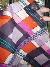 Ткань хлопок батист яркий цветной Арлекин 3 куска. Для рукоделия