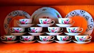 Чайная пара чашка и блюдце фарфор винтаж набор 6-12 персон на подарок