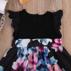 Family Look платье Мама Дочка  Лето Цветочный принт 2