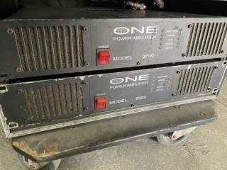 Продам усилитель звука ONE 2000 - 3 шт.