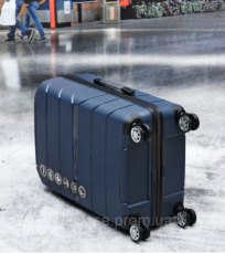 Чемодан из полипропилена на 4-х колесах WINGS PP-05 BLUE 4