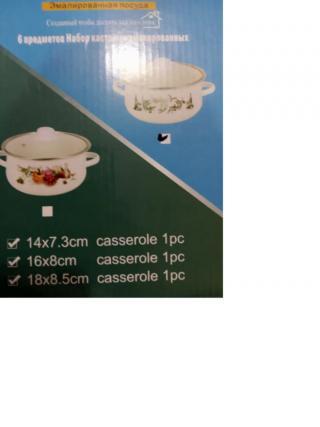 Набор кастрюль 6 предметов. набор посуды 2