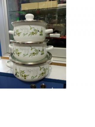 Набор кастрюль 6 предметов. набор посуды 3
