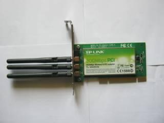 TP-LINK TL-WN951N, Бездротовий мережевий адаптер серії N, шина PCI, до
