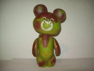 Игрушка мишка олимпийский СССР большой редкий