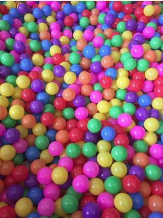 Детские шарики для сухих бассейнов 6 см 10 штук