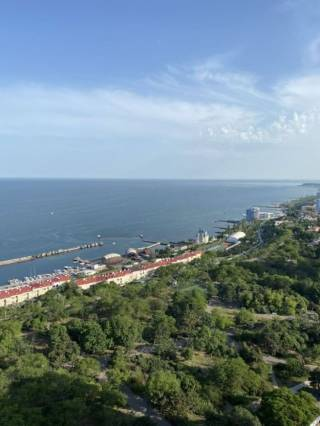 Продам 1к кв-ру в Акрадии, панорамный вид моря, терраса, 45 Жемчужина 10