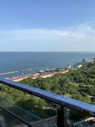 Продам 1к кв-ру в Акрадии, панорамный вид моря, терраса, 45 Жемчужина 5
