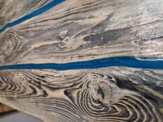 Стол лофт LOFT из эпоксидной смолы и дерева 5
