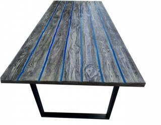 Стол лофт LOFT из эпоксидной смолы и дерева 3