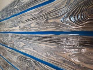 Стол лофт LOFT из эпоксидной смолы и дерева 6
