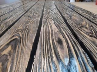 Стол лофт LOFT из эпоксидной смолы и дерева