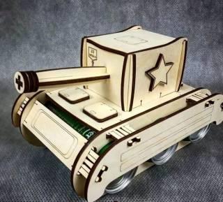 Минибар-упаковка для пива в форме танка 2