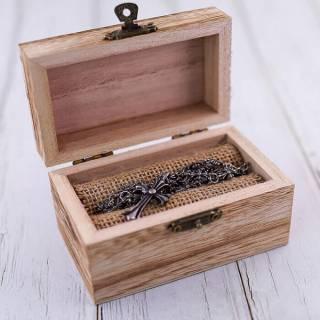 Шкатулка для свадебных колец Коробочка для колец на свадьбу деревянная
