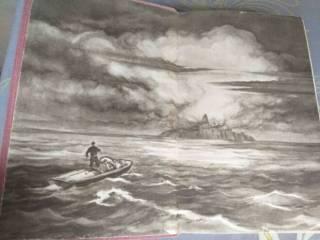 Александр Казанцев  Пылающий остров 1957 БПНФ рамка библиотека приключ 2