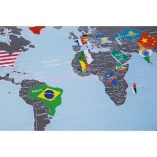 Скретч карта мира с флагами Подарочные скретч карты мира 3