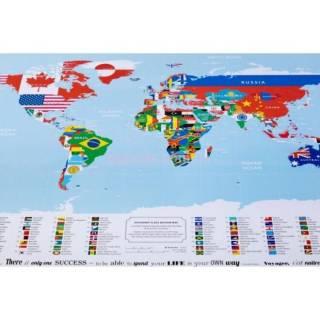Скретч карта мира с флагами Подарочные скретч карты мира 4