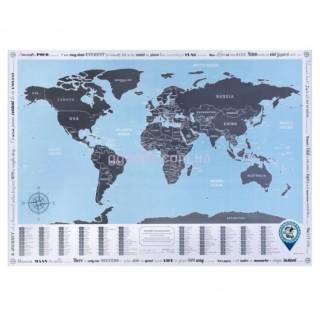 Скретч карта мира с флагами Подарочные скретч карты мира 2