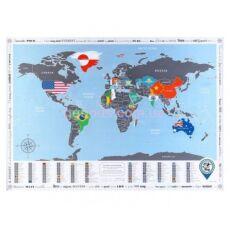 Скретч карта мира с флагами Подарочные скретч карты мира