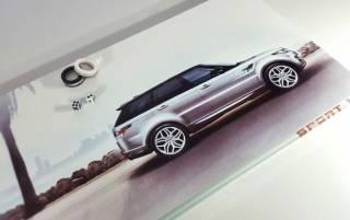Красивые нарды из стекла и дерева Нарды Range rover белые